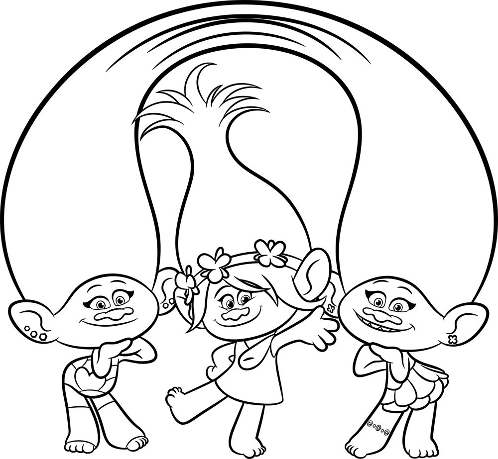 free troll coloring pages - photo#26