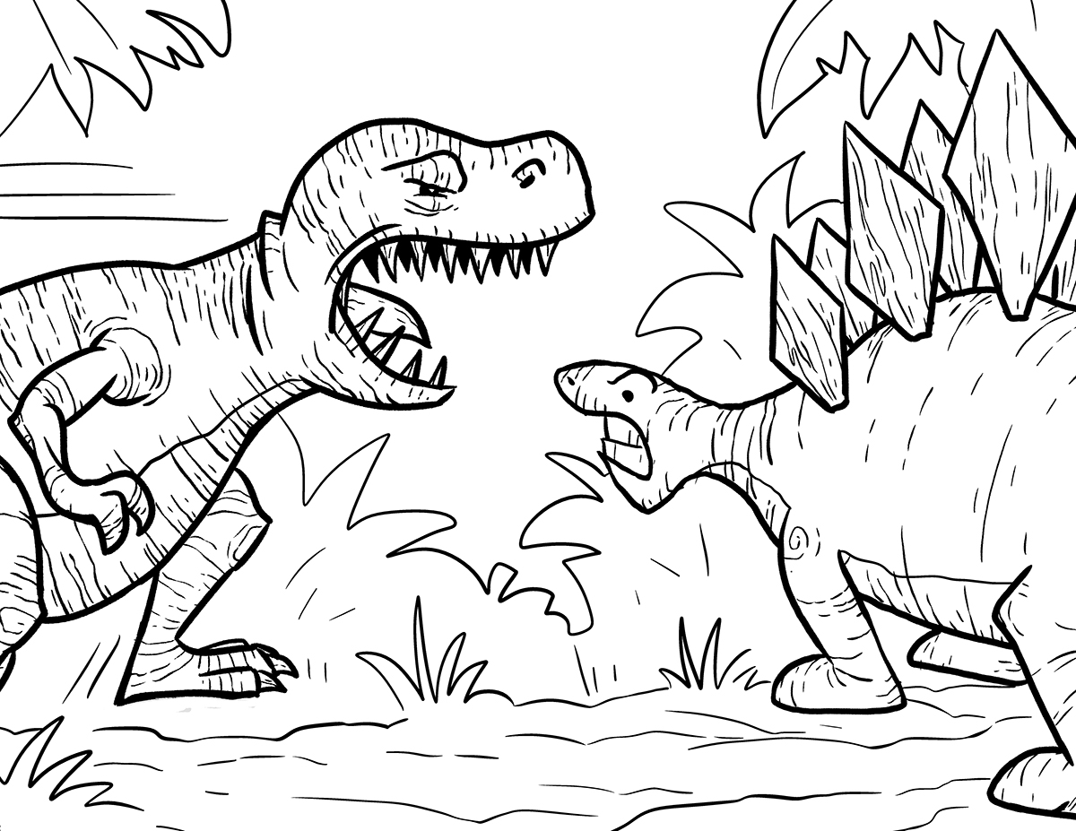 T Rex Coloring Page Trex Coloring Pages  Best Coloring Pages For Kids