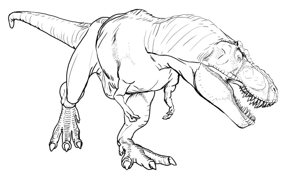 TRex Coloring Pages Printables