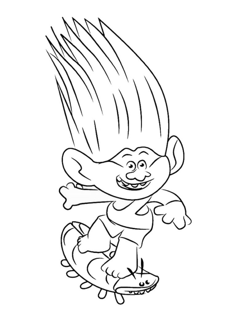 Trolls Movie Coloring Page Printable