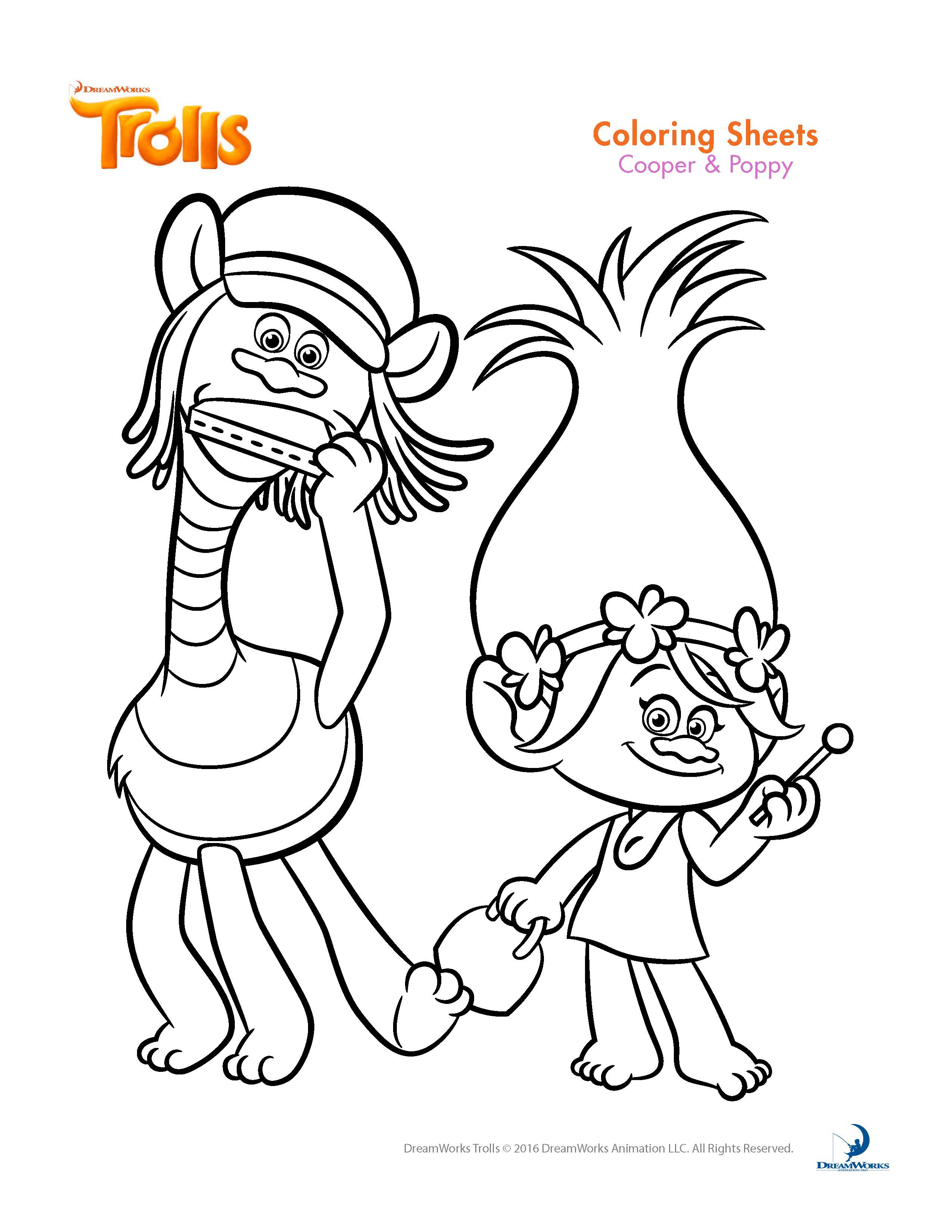 Trolls movie coloring pages best coloring pages for kids - Color for th birthday ...