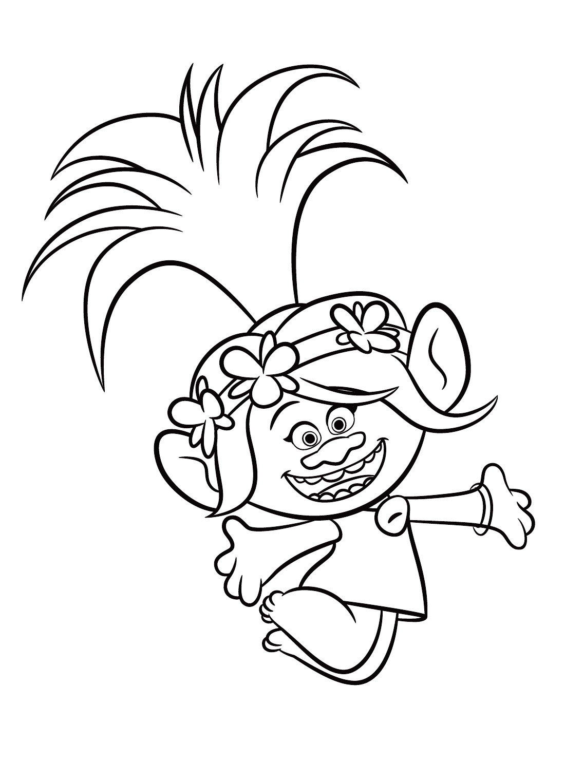 trolls poppy coloring pages - Coloring Page Trolls