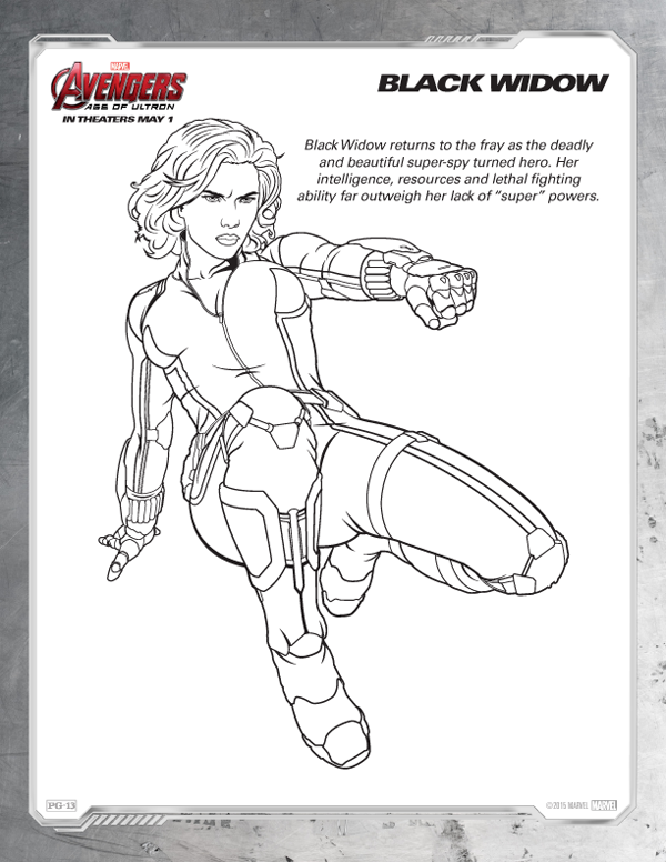 Avengers Coloring Pages - Free Black Widow