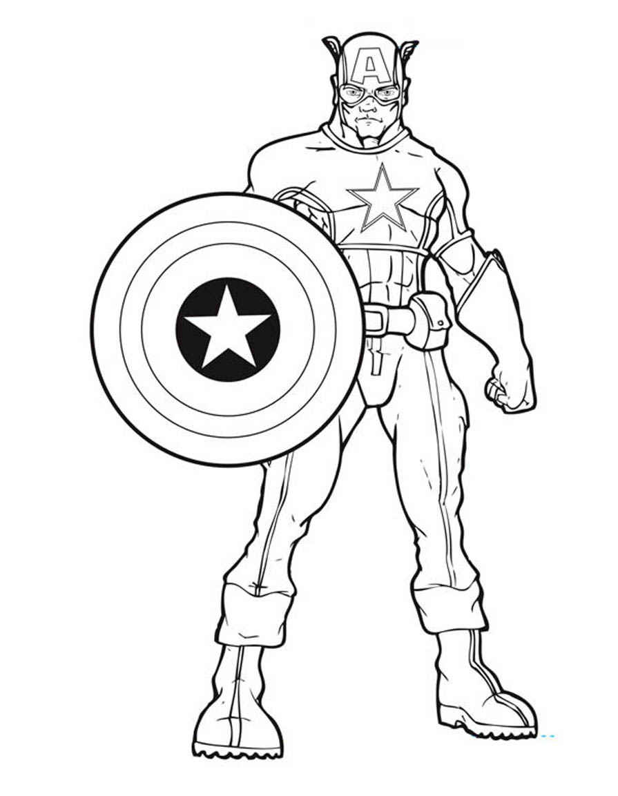 avengers coloring pages free captain america