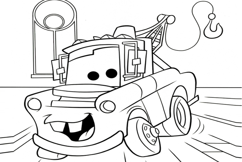 free printable mater coloring pages - photo#11