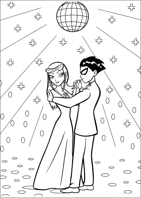 free printable teen titans coloring pages - Teen Coloring Books