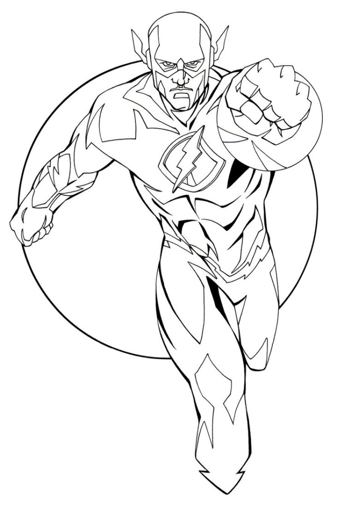 Justice League Flash Coloring Pages