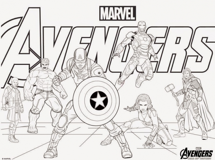 Avengers Christmas Coloring Pages : Avengers coloring pages best for kids