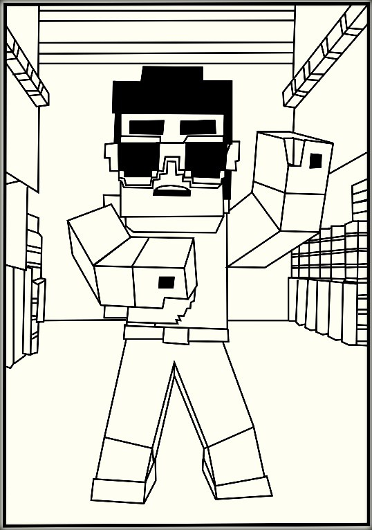minecraft coloring pages elvis