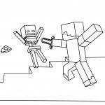 Minecraft Coloring Pages Fight