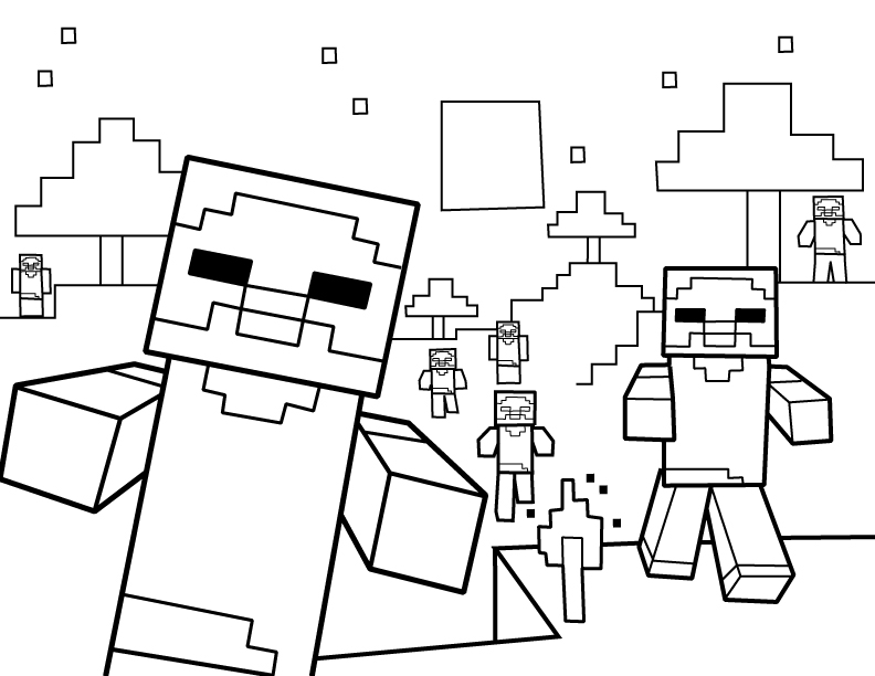 print free minecraft coloring pages