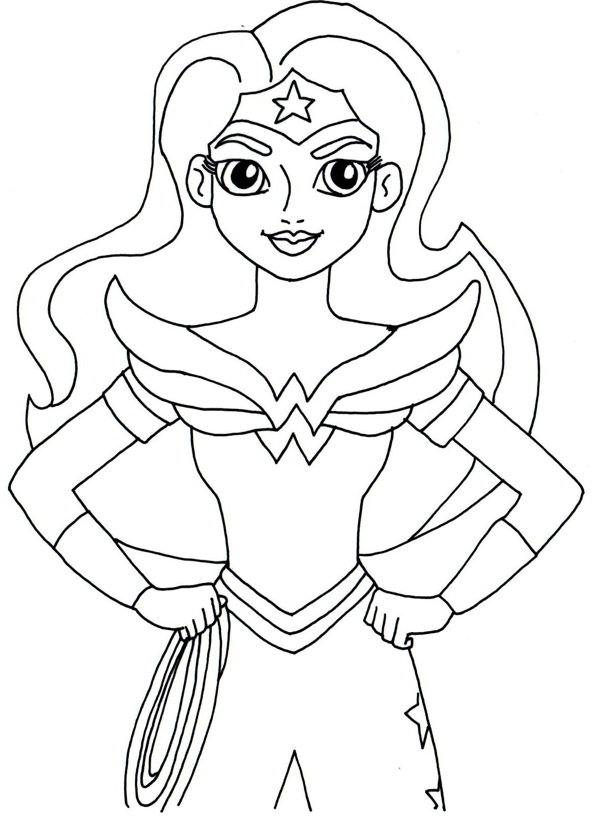 Print And Color Wonder Woman