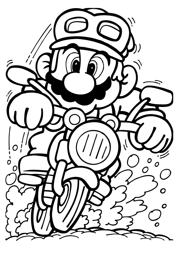printable mario kart pages to color - Pages To Color