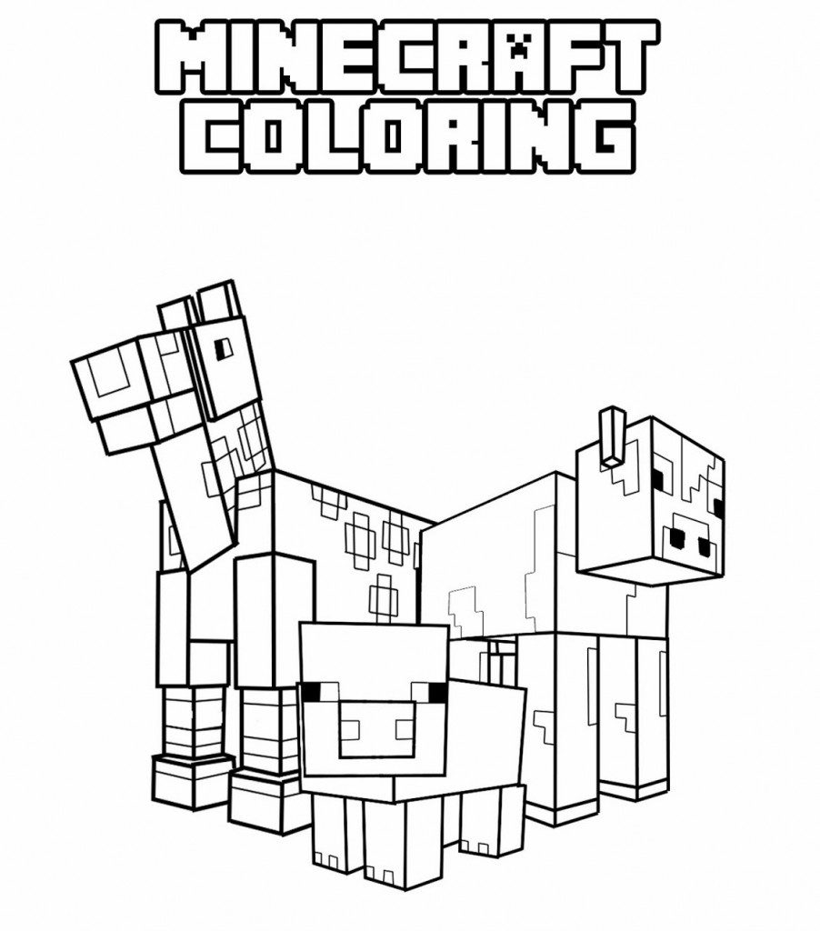 It is a picture of Clean Minecraft Coloring Pages Printable