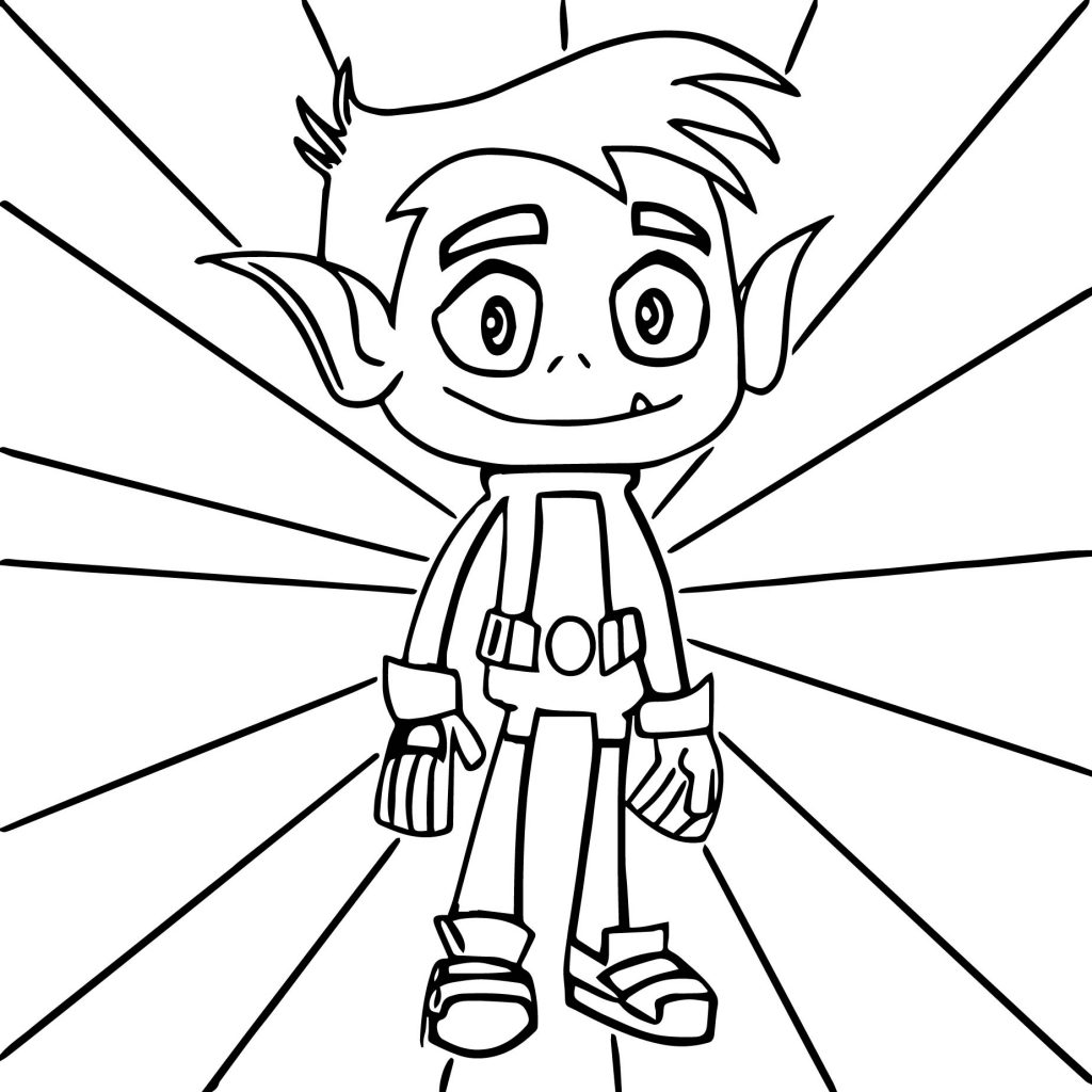 Teen Titans Coloring Pages - Beast Boy