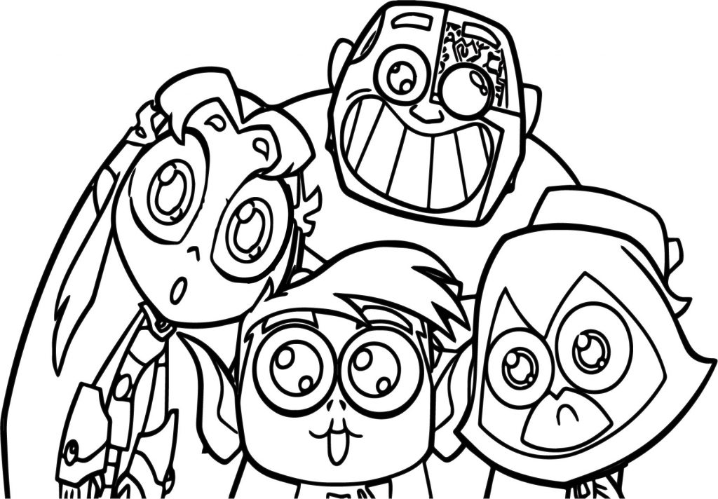 Teen Titans Go! coloring page Free Printable Coloring Pages