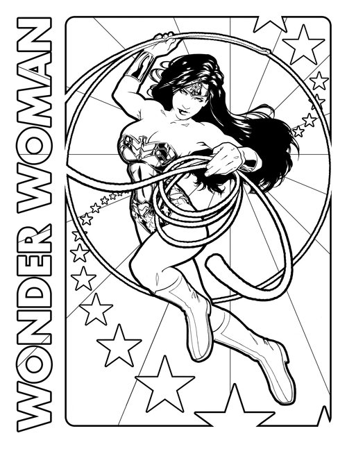 Wonder Girl Coloring Pages Coloring Coloring Pages