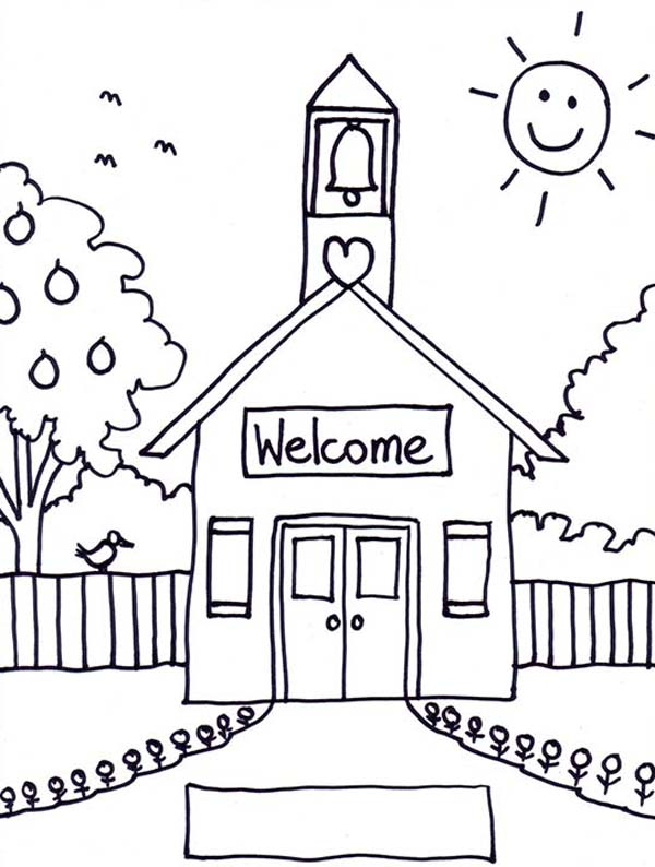 school images coloring pages - photo#5