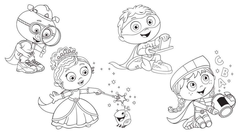 super why christmas coloring pages - photo#2