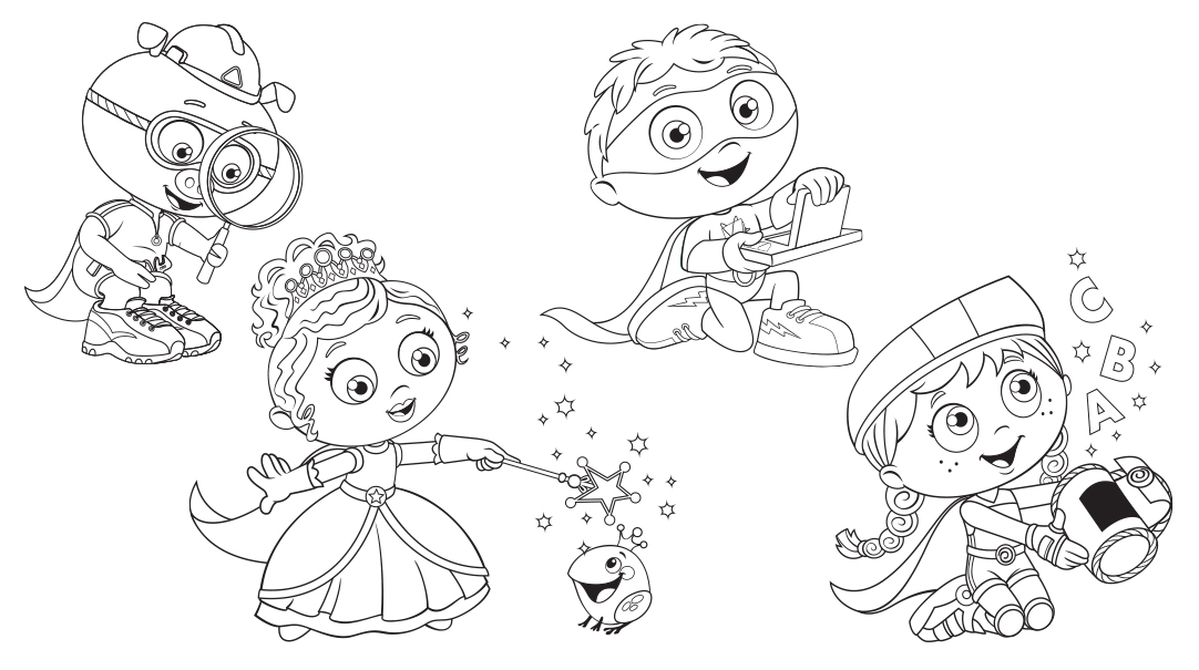 super why coloring pages free - photo#15