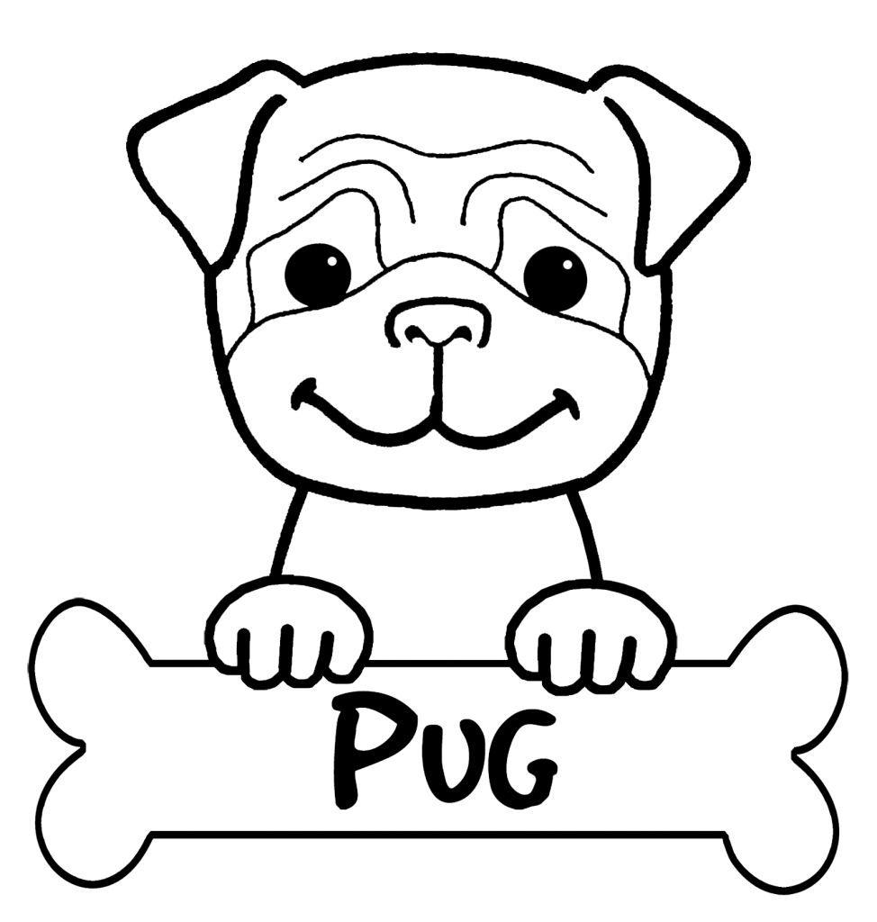 Cute Free Pug Coloring Pages