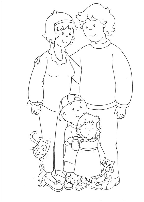 Caillou Coloring Pages Best Coloring