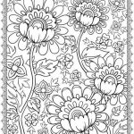 Detailed Flower Coloring Page for Adults