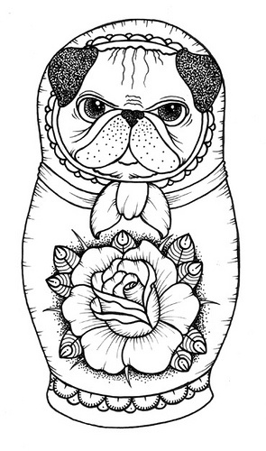 Free Printable Pug Coloring Pages