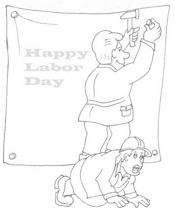 happy labor day coloring pages - photo#3