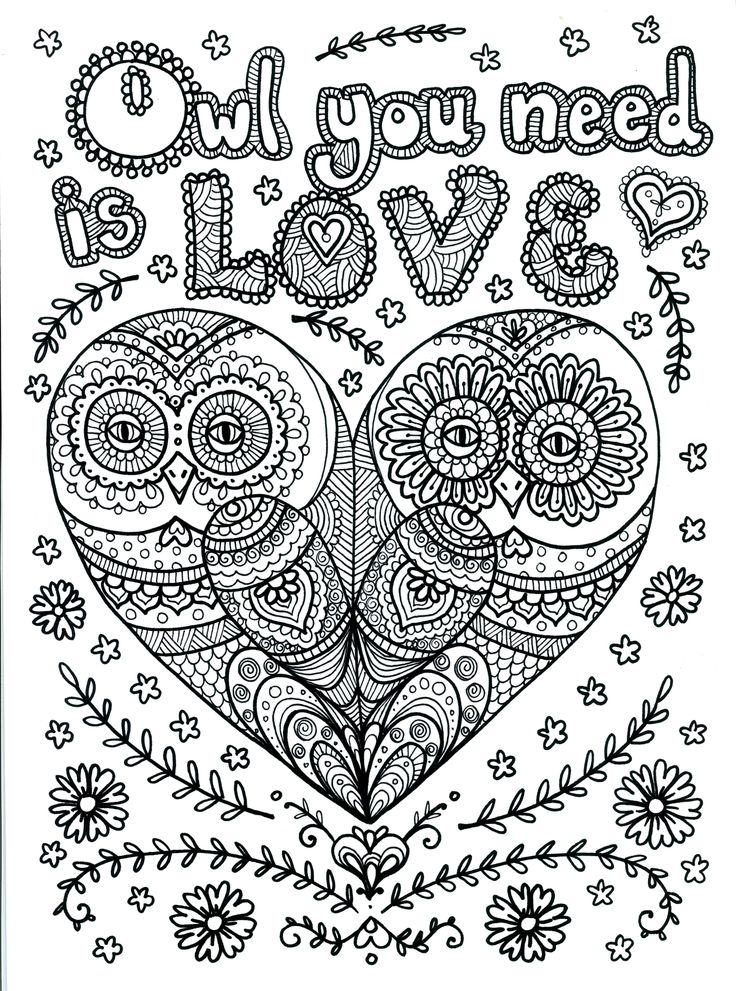 hard coloring pages of animals - Printable Owl Coloring Pages For Adults