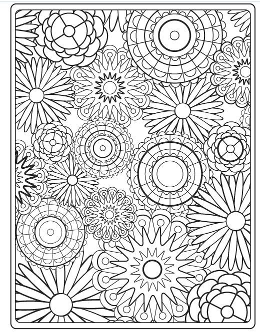 Flower coloring pages for adults best coloring pages for Best colouring books for adults 2018