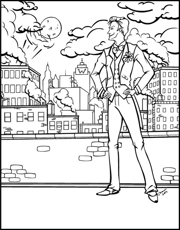 Joker Coloring Page Printable