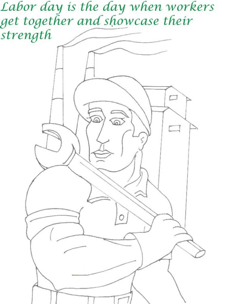 Labor Day Coloring Pages - Workers Strength