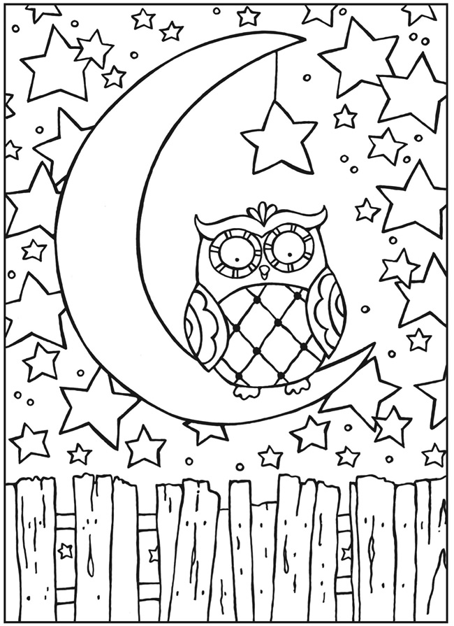 owl coloring page printable - Printable Owl Coloring Pages For Adults