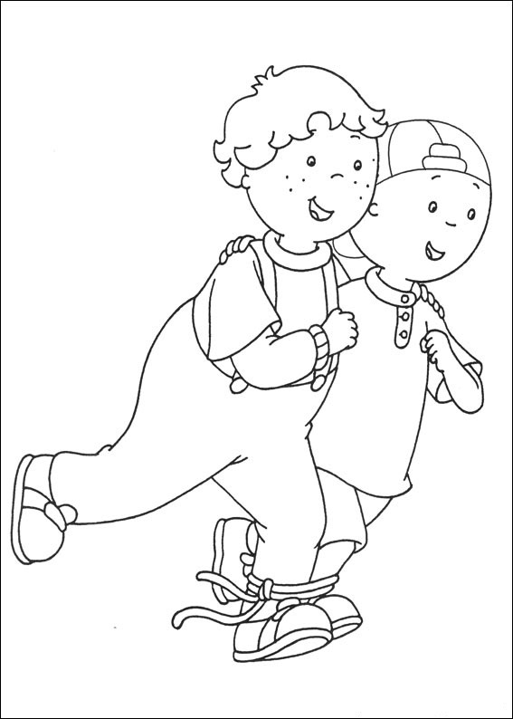 Print Caillou Coloring Pages Free