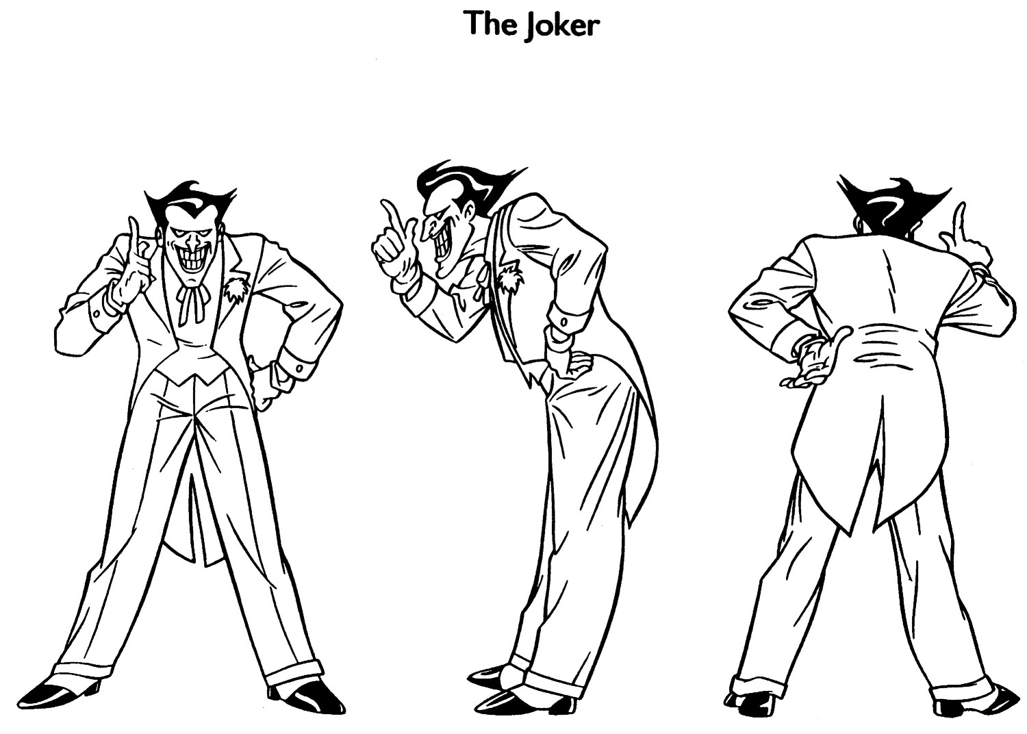 Print Joker Coloring Pages