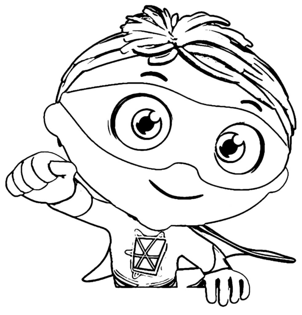 super why printable coloring pages - photo#12