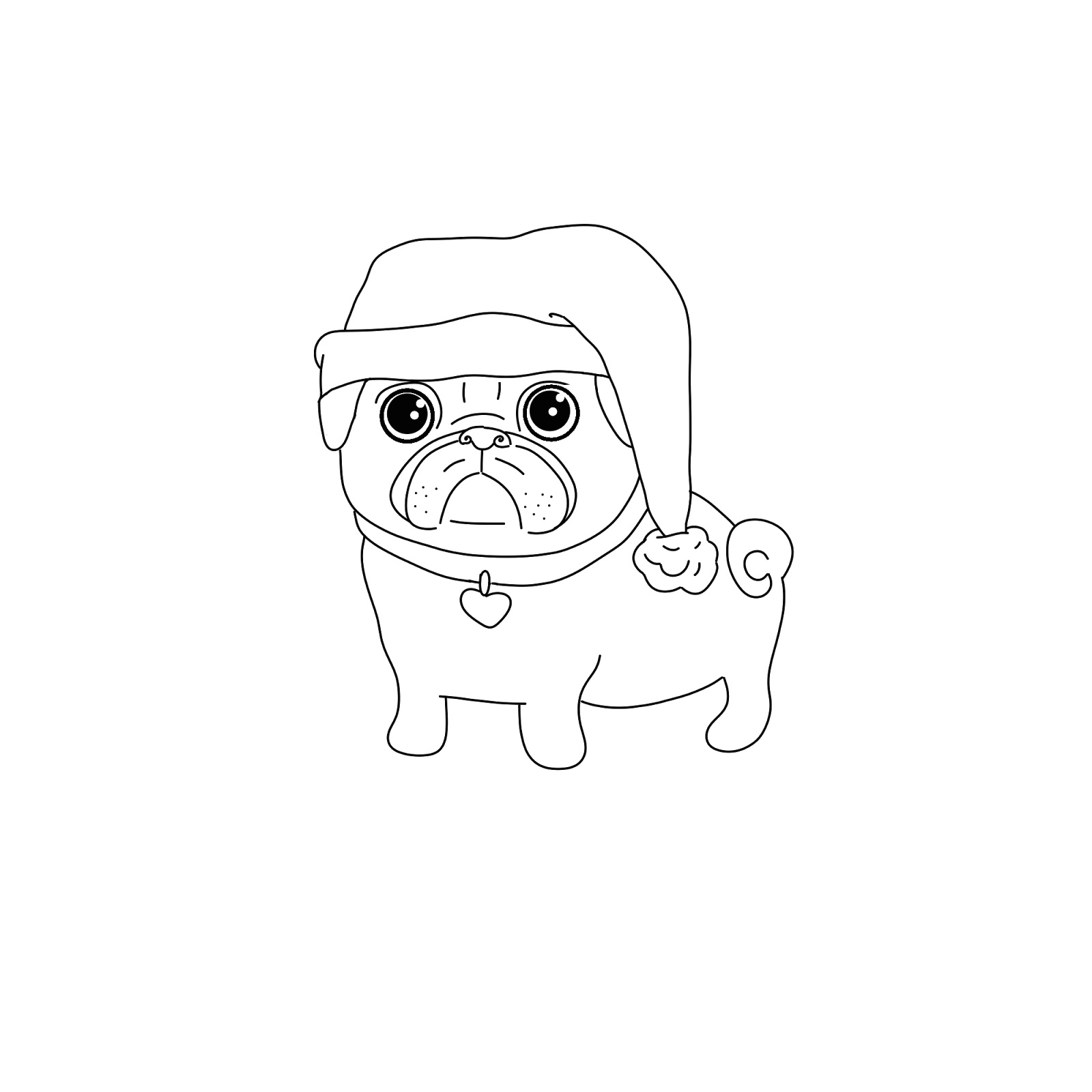 pug coloring pages - photo#34
