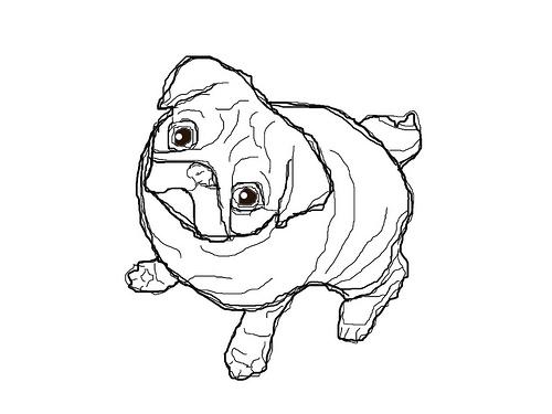 Pug Coloring Page Printable