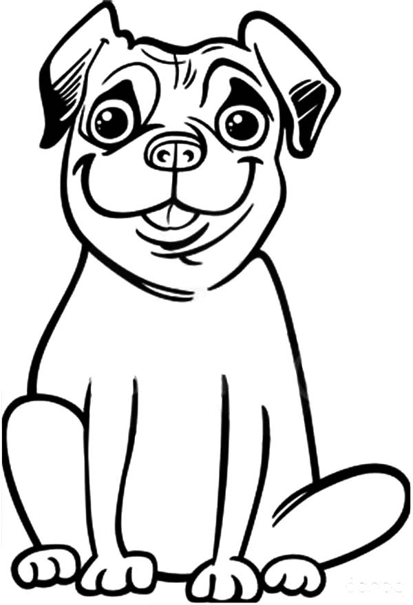 Pug Coloring Page Printables