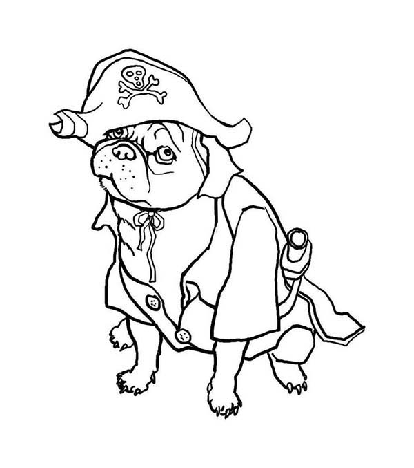 pug coloring pages printable