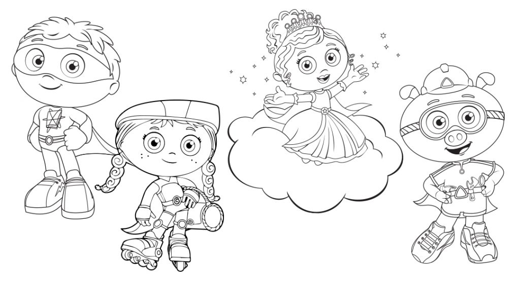 super why christmas coloring pages - photo#11