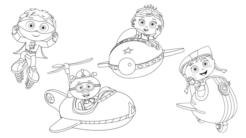 Super Why Coloring Page Printable