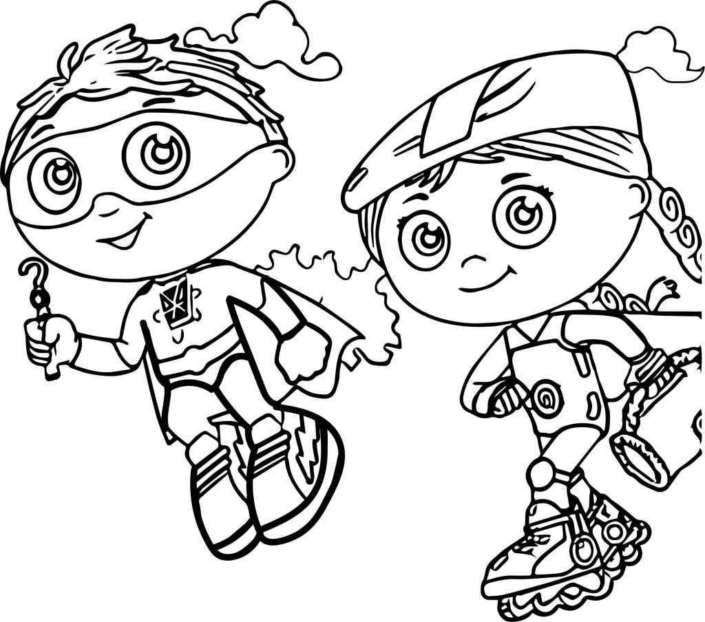 super why christmas coloring pages - photo#6