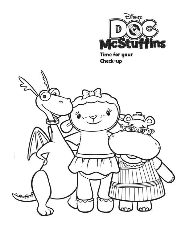 Color Doc McStuffins Pages