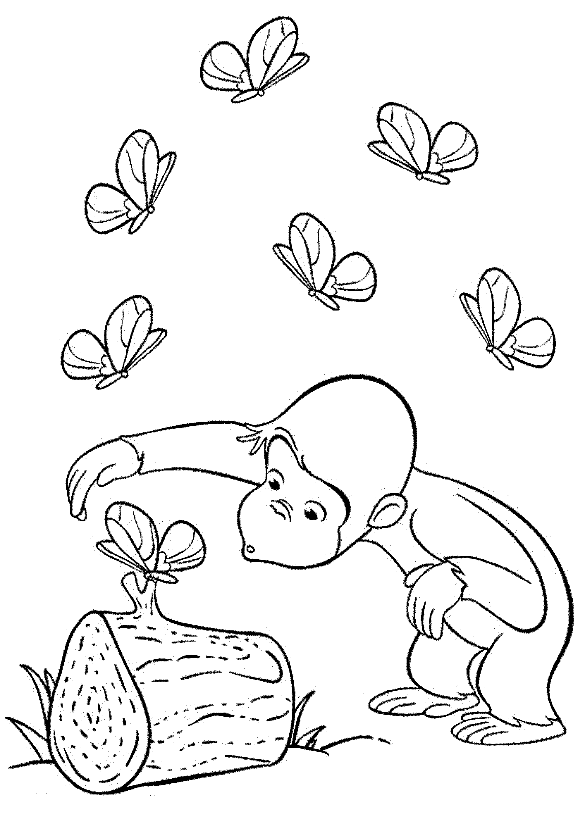 monkey george coloring pages - photo#36
