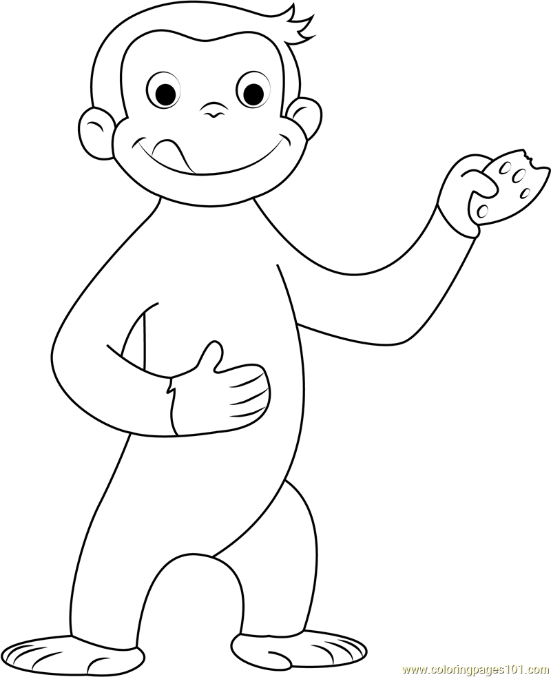 coloring pages of curious george - photo#18