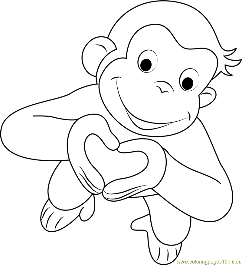 coloring pages of curious george - photo#16