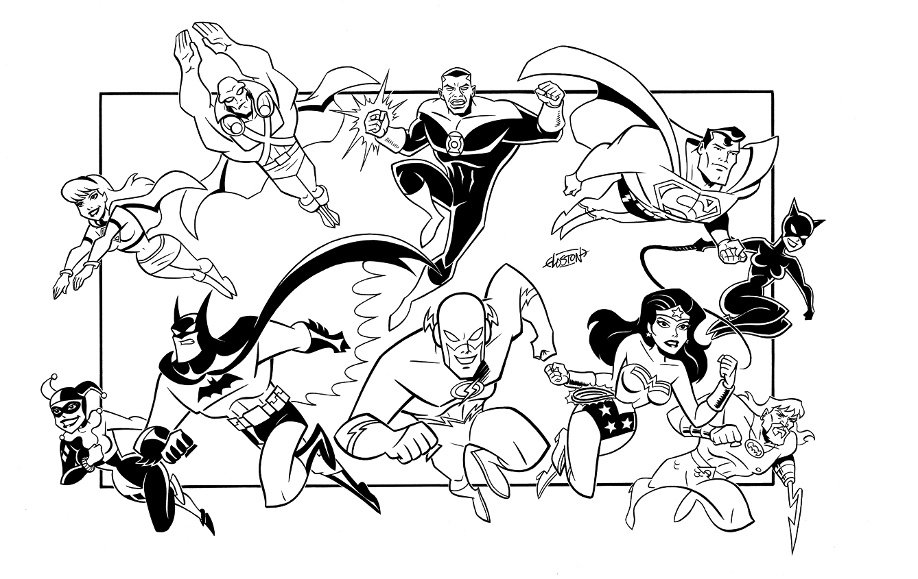 comic book character coloring pages - photo#24