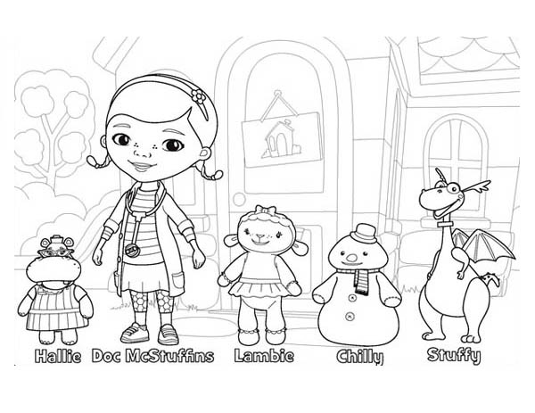 Dr Mcstuffin Coloring Pages doc mcstuffins coloring pages pdf